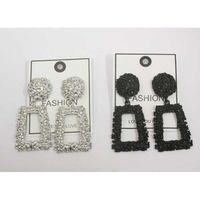 texture rectangular earrings