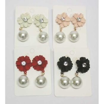 pearl flower earrings for senior