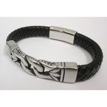 jewelry bracelet leather braided handcuffs