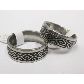 ring man azteque stainless steel