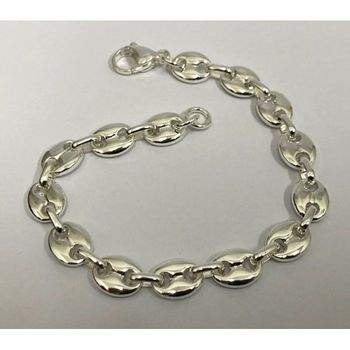 white gold coffee grain bracelet