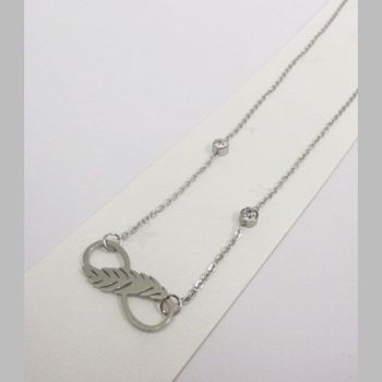 infinite leaf pendant necklace