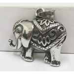 indian steel elephant pendant