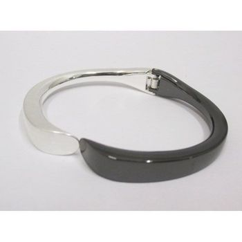 black silver removable bangle