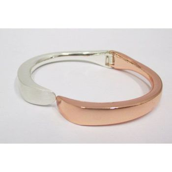pink silver removable bangle