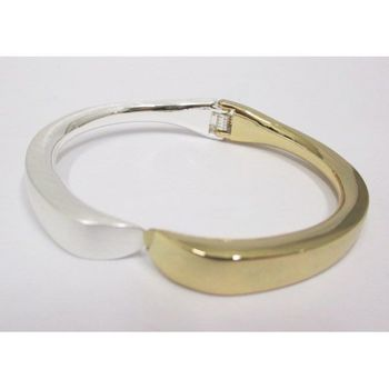 detachable gold silver bangle bracelet