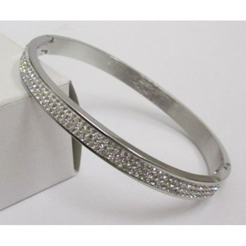fine bangle bracelet with rhinestones