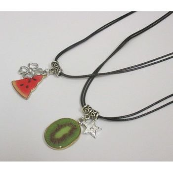 friendship necklace for 2 fruits