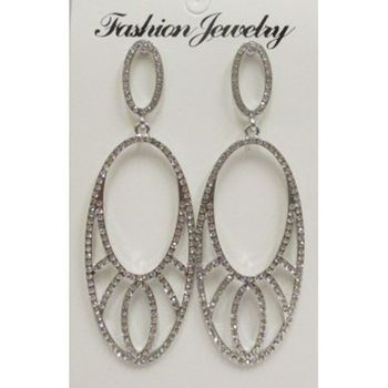 Rhinestone crystal earring wholesaler supplier