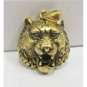 gilt steel pendant tiger head