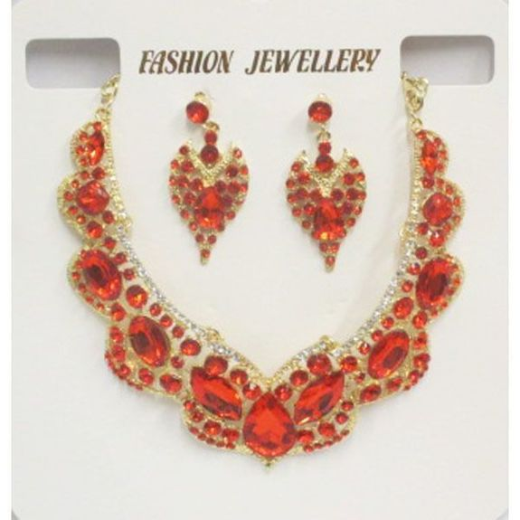 jewelry set red oriental wedding