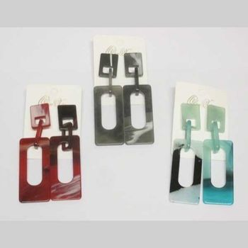 rectangular resin earring