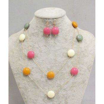 pearl necklace of all colors in round and square version