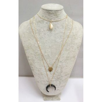 Cauri and Crescent Moon Necklace