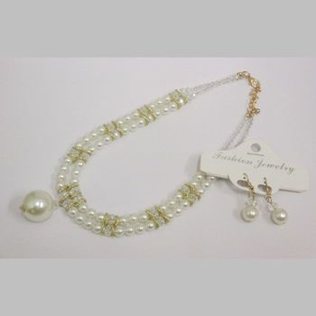 pearl necklace with hanging ball