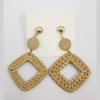jewelry rattan earrings braid