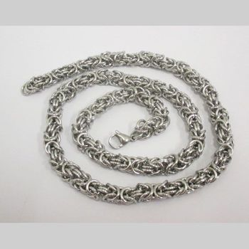 peruvian knit chain necklace