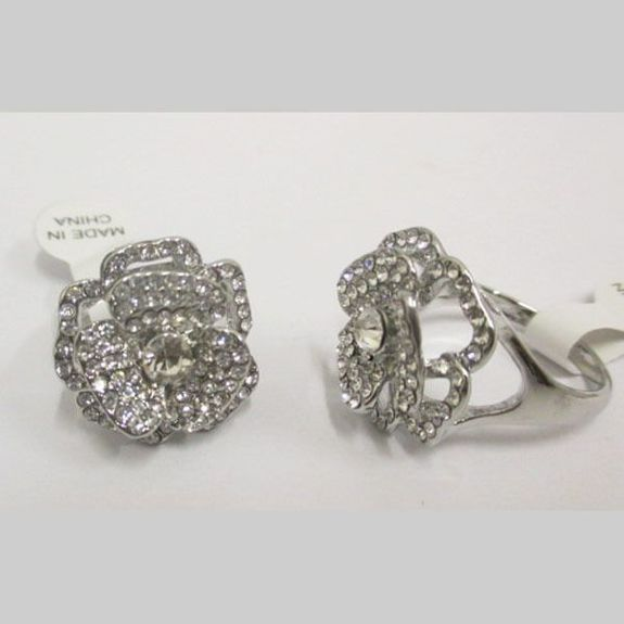 crystal flower ring jewelry