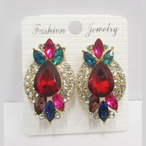 earrings clips for ears not drilled in multicolored