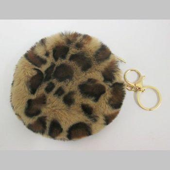 purse round purse leopard woman