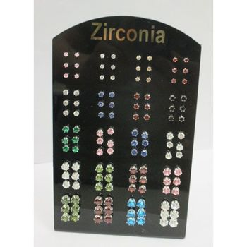 round cubic zirconia earrings and various sizes