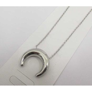steel moon pendant jewelry