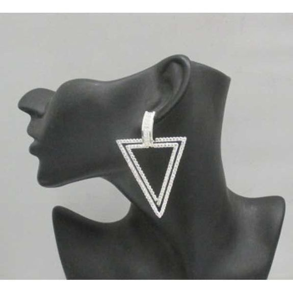 triangle crystal earring