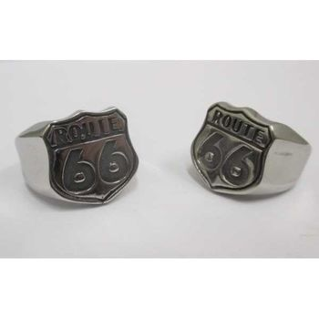 biker ring steel road 66
