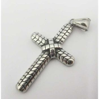 steel cross pendant