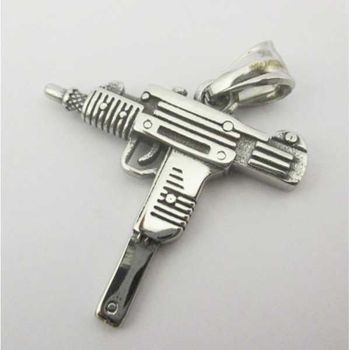 hip hop submachine gun pendant