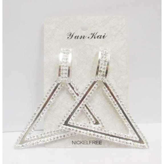 boucle d'oreille strass triangle pyramide