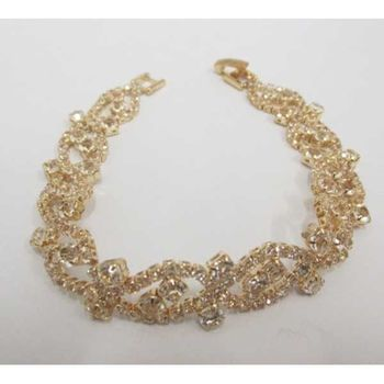 elegant wedding crystal bracelet