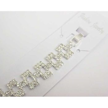 small crystal rectangle bracelet