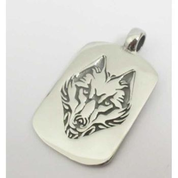Wolf plate pendant