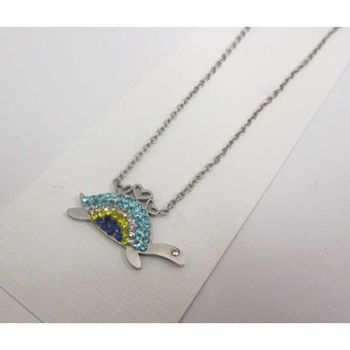 jewelry necklace turtle color steel
