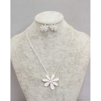 daisy flower email necklace