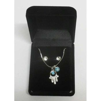 blue eye fatma hand pendant necklace