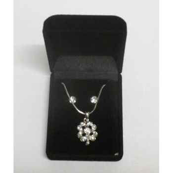flower pendant necklace in its box