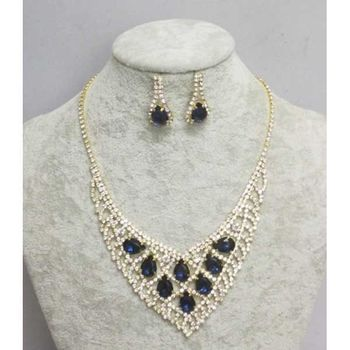 rhinestone jewelery set for sale