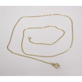 necklace steel chain golden, fine and elegant