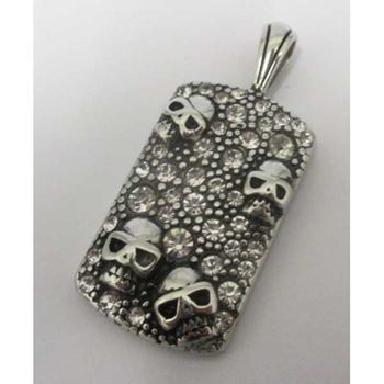 crystal death head pendant