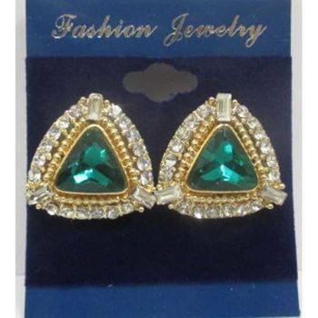 green crystal triangle clip buckle