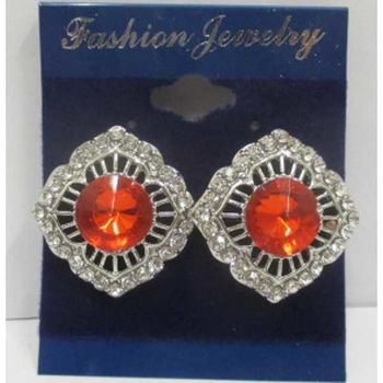 crystal red earrings cheap