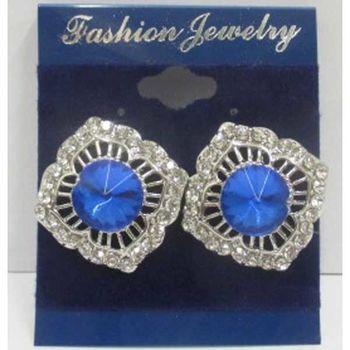 blue crystal earrings mini price