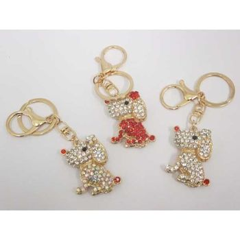 dog in keychain, bag jewelry