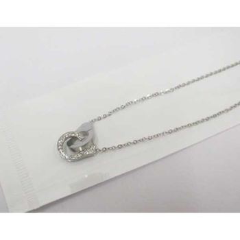 crystal steel handcuff pendant
