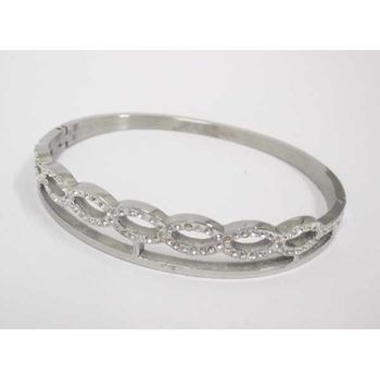 crystal steel knot bracelet for women