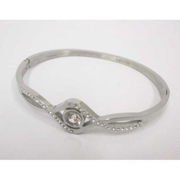 crystal steel wrist bracelet woman