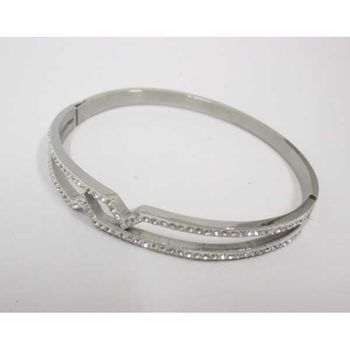 woman jewelry crystal steel bracelet