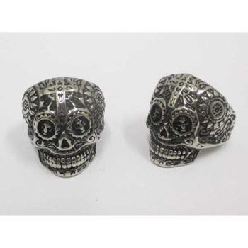 cross skull ring steel